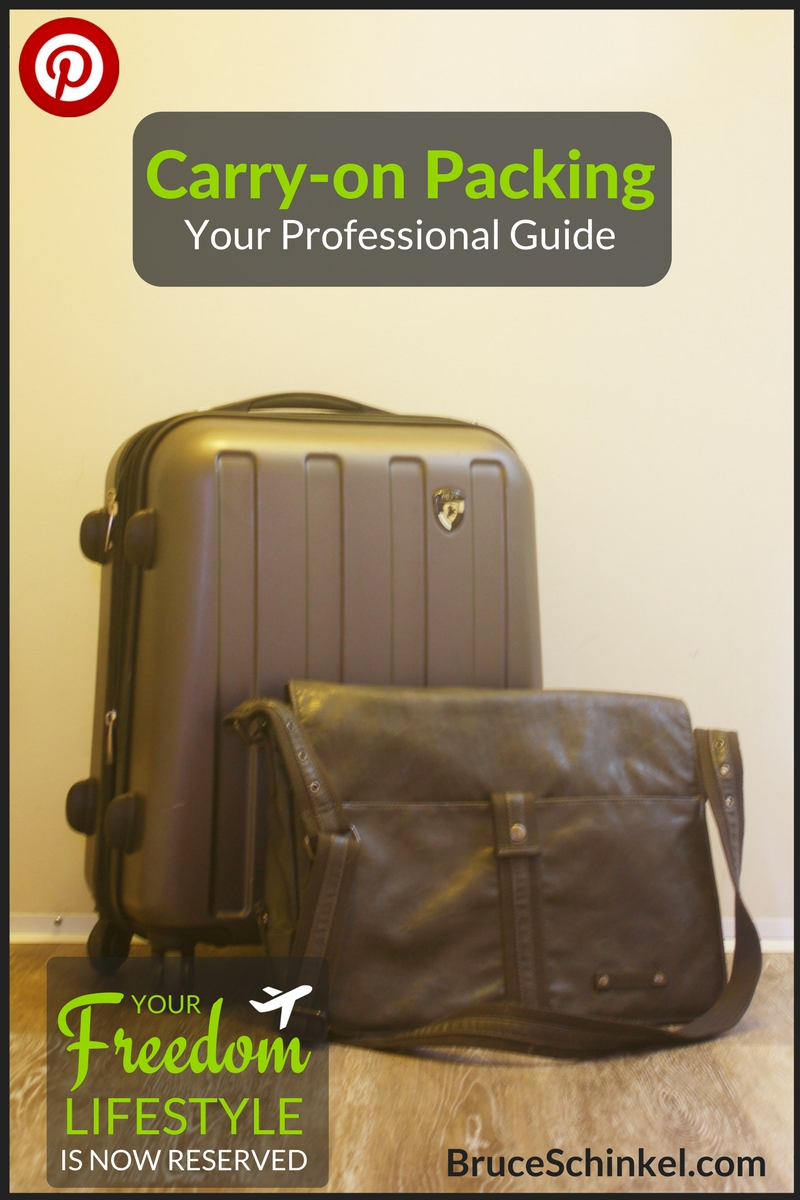 Pinterest - how to pack a carry-on bag