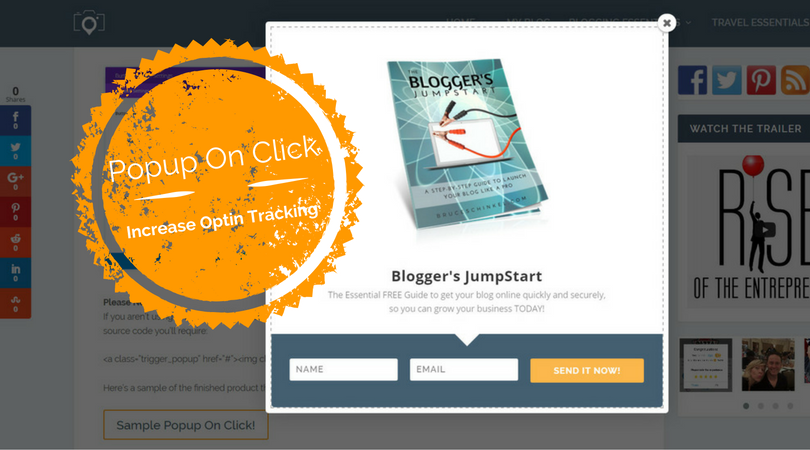 Increase Your Optin Tracking with Popup On Click using Bloom